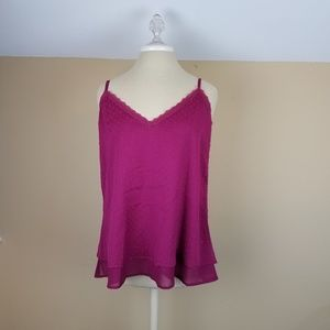 4/$25 Astars Georgia Swing Cami in the Color Berry